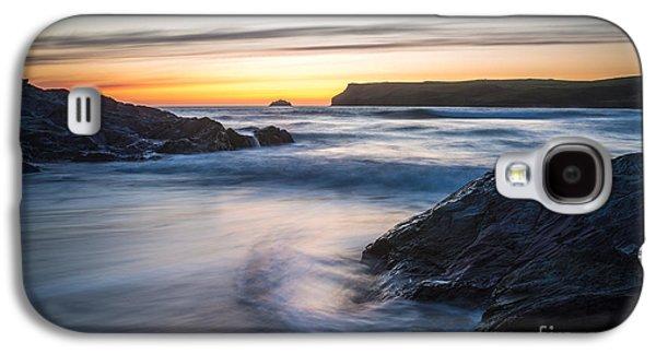 Sun Galaxy S4 Cases - Setting Sun At Polzeath Galaxy S4 Case by Amanda And Christopher Elwell
