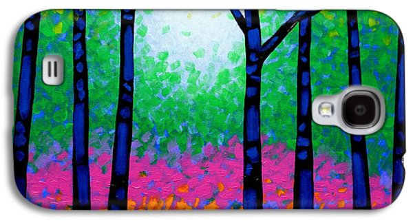 Impressionism Acrylic Prints Galaxy S4 Cases - Seven Trees Galaxy S4 Case by John  Nolan