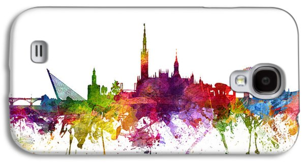 Skylines Drawings Galaxy S4 Cases - Seville Spain Cityscape 06 Galaxy S4 Case by Aged Pixel
