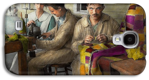 Psychiatry Galaxy S4 Cases - Sewing - Knitting helps me to relax... 1917 Galaxy S4 Case by Mike Savad