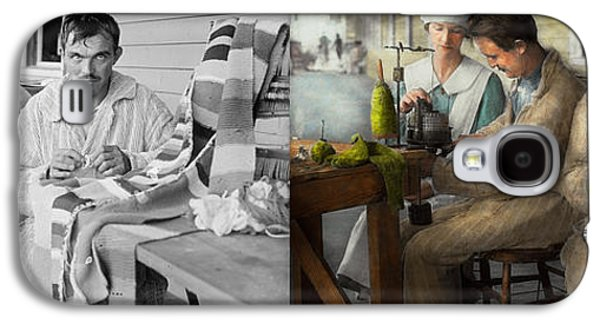 Studio Photographs Galaxy S4 Cases - Sewing - Knitting helps me to relax... 1917 - Side by side Galaxy S4 Case by Mike Savad