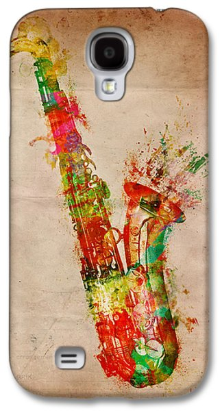Grunge Galaxy S4 Cases - Sexy Saxaphone Galaxy S4 Case by Nikki Smith