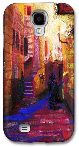 Night Lamp Paintings Galaxy S4 Cases - Shabbat Shalom Galaxy S4 Case by Talya Johnson