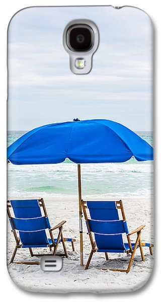 Splashy Photographs Galaxy S4 Cases - Shade on the Beach Galaxy S4 Case by Shelby  Young