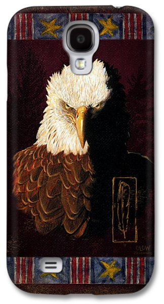 Flag Paintings Galaxy S4 Cases - Shadow Eagle Galaxy S4 Case by JQ Licensing