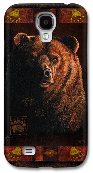 Cabin Paintings Galaxy S4 Cases - Shadow Grizzly Galaxy S4 Case by JQ Licensing