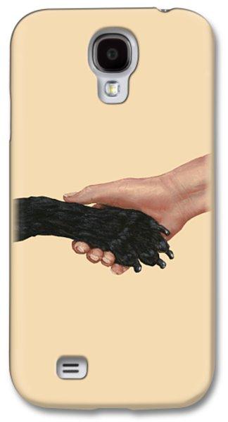 Galaxy S4 Cases - Shake Hands  Galaxy S4 Case by Anastasiya Malakhova