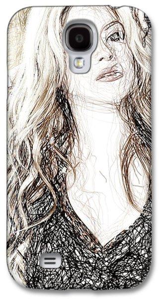 Shakira - Pencil Art Galaxy S4 Case by Raina Shah