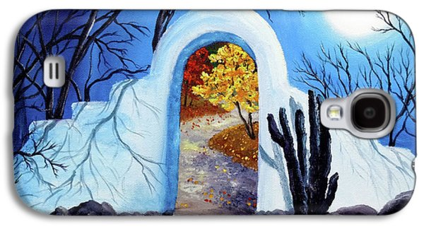 Shamanism Galaxy S4 Cases - Shamans Gate to Autumn Galaxy S4 Case by Laura Iverson