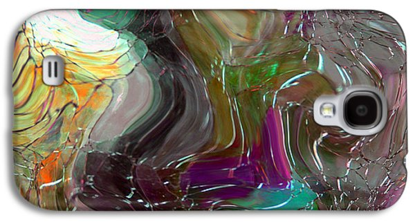 Depression Paintings Galaxy S4 Cases - Shards of Glass Galaxy S4 Case by Mindy Sommers