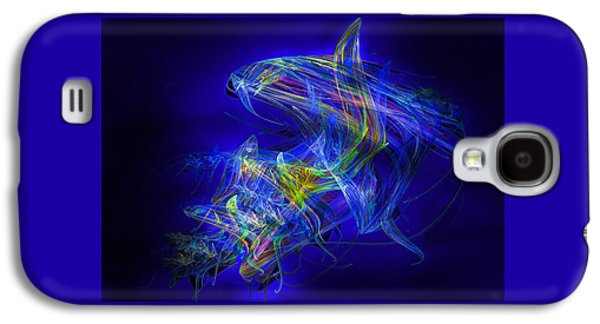 Abstract Digital Mixed Media Galaxy S4 Cases - Shark Beauty Galaxy S4 Case by Michael Durst