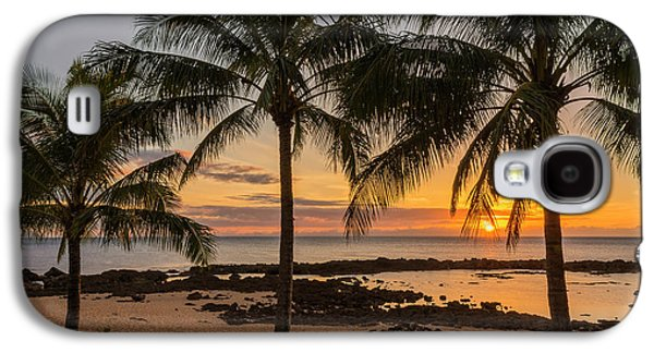 Beautiful Scenery Galaxy S4 Cases - Sharks Cove Sunset 4 - Oahu Hawaii Galaxy S4 Case by Brian Harig