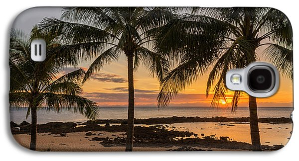 Seaside Galaxy S4 Cases - Sharks Cove Sunset 4 - Oahu Hawaii Galaxy S4 Case by Brian Harig