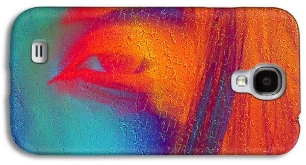 Colorful Abstract Galaxy S4 Cases - She Awakes Galaxy S4 Case by Kiki Art