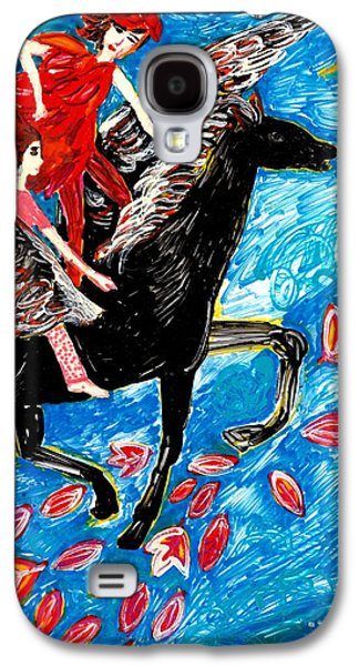 Fantasy Ceramics Galaxy S4 Cases - She flies with the West Wind Galaxy S4 Case by Sushila Burgess