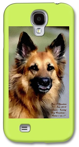 Abstract Digital Pastels Galaxy S4 Cases - Sheba - Loving Dog Creations Catus 1 no.1 V A Galaxy S4 Case by Gert J Rheeders