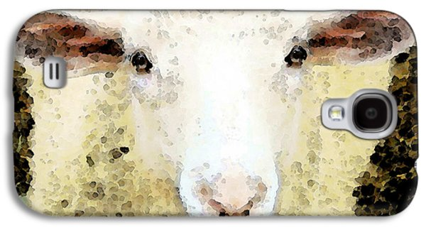 Rural Scenes Digital Galaxy S4 Cases - Sheep Art - Ewe Rang Galaxy S4 Case by Sharon Cummings