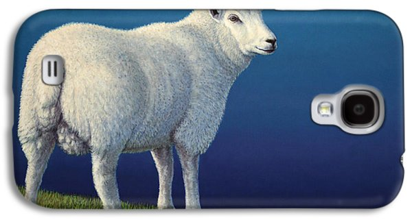 Animal Galaxy S4 Cases - Sheep at the edge Galaxy S4 Case by James W Johnson
