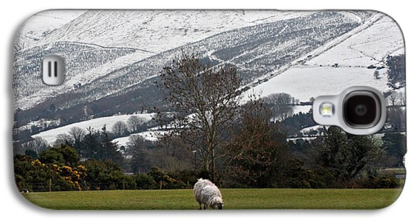 Grazing Snow Galaxy S4 Cases - Sheep grazing atThe Galtees  Irelands tallest inland mountains Galaxy S4 Case by Pierre Leclerc Photography