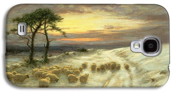 Sheep In The Snow Galaxy S4 Case by Joseph Farquharson