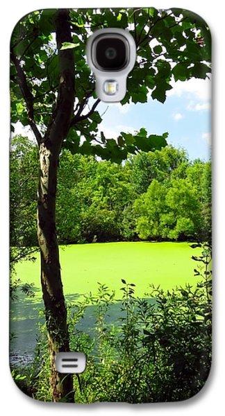 Alga Galaxy S4 Cases - Sheldon Marsh Algae Pond Galaxy S4 Case by Shawna  Rowe