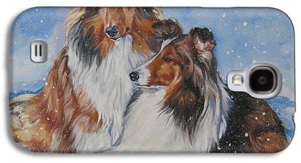 Sheltie Pair Galaxy S4 Case by Lee Ann Shepard