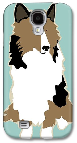 Recently Sold -  - Dogs Digital Galaxy S4 Cases - Sheltie Phone Case Galaxy S4 Case by Ginger Oliphant