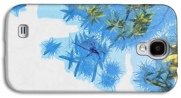 Blue Abstracts Galaxy S4 Cases - Shining stars Galaxy S4 Case by Ashish Agarwal