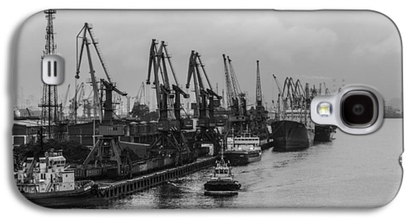 Machinery Galaxy S4 Cases - Shipping on the River Neva Galaxy S4 Case by Clare Bambers