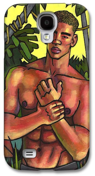 African-american Galaxy S4 Cases - Shirtless in the Jungle Galaxy S4 Case by Douglas Simonson
