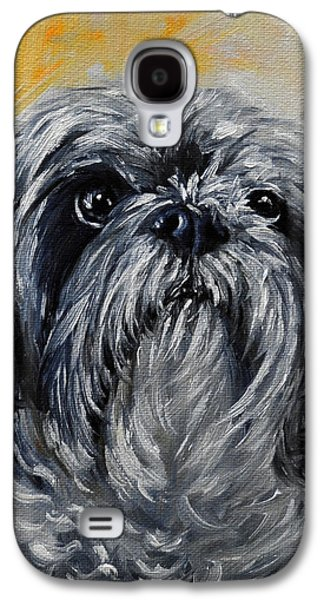 Puppies Galaxy S4 Cases - Shitzu, Shihtzu Art,Original Painting,shih tsu Galaxy S4 Case by Sun Sohovich