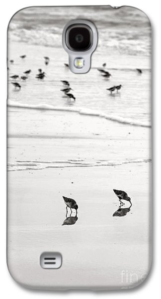 Plundering Plover Series In Black And White 7 Galaxy S4 Case by Angela Rath