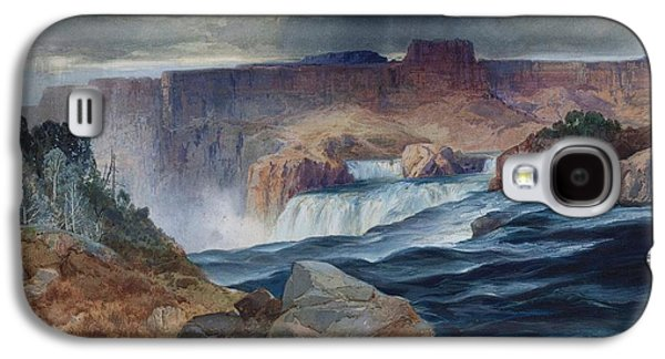 Yellowstone Digital Galaxy S4 Cases - Shoshone Falls Idaho Galaxy S4 Case by Thomas Moran