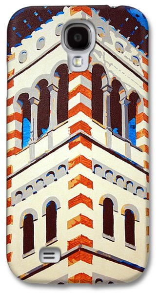 Church Pillars Paintings Galaxy S4 Cases - Shrine Bell Tower Detail Galaxy S4 Case by Sheri Parris
