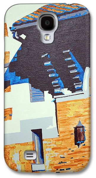 Church Pillars Paintings Galaxy S4 Cases - Shrine Corbels Detail Galaxy S4 Case by Sheri Parris