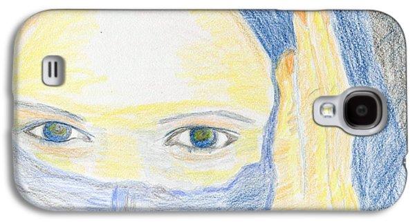 Contemplative Drawings Galaxy S4 Cases - Shrouded Galaxy S4 Case by Joe Hagarty