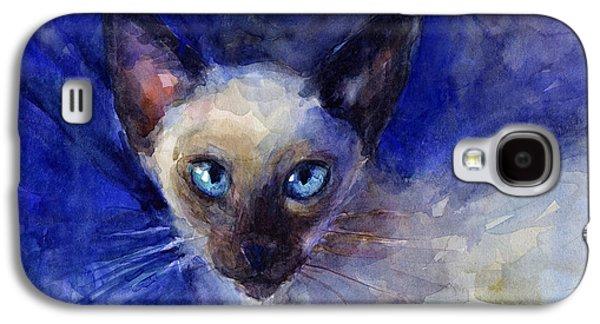 Texas Drawings Galaxy S4 Cases - Siamese Cat  Galaxy S4 Case by Svetlana Novikova
