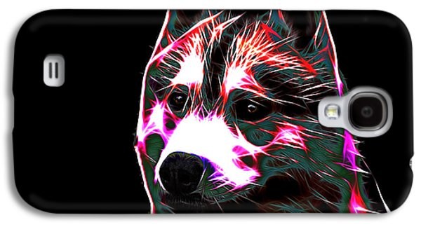 Dogs Digital Art Galaxy S4 Cases - Siberian Husky Galaxy S4 Case by Alexey Bazhan
