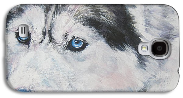 Siberian Husky Up Close Galaxy S4 Case by Lee Ann Shepard