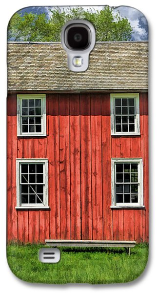 Old Barns Paintings Galaxy S4 Cases - Side of Barn and Windows at Old World Wisconsin Galaxy S4 Case by Christopher Arndt