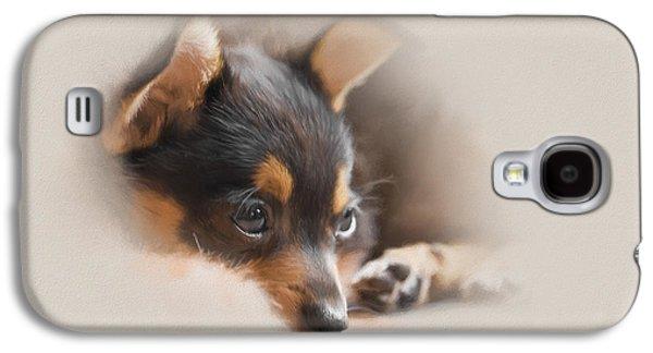 Puppy Digital Art Galaxy S4 Cases - Siesta Galaxy S4 Case by Ron Jones