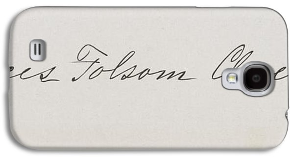 First Lady Drawings Galaxy S4 Cases - Signature Of Frances Clara Folsom Galaxy S4 Case by Vintage Design Pics