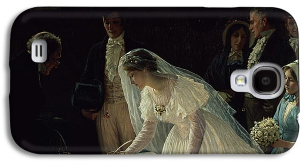 Crowd Galaxy S4 Cases - Signing the Register Galaxy S4 Case by Edmund Blair Leighton