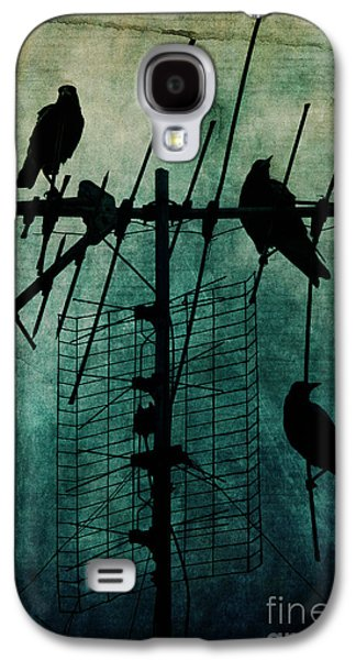 Crows Galaxy S4 Cases - Silent Threats Galaxy S4 Case by Andrew Paranavitana