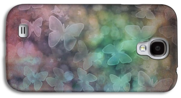 Engagement Digital Galaxy S4 Cases - Silhouettes of Butterflies Galaxy S4 Case by Marianna Mills