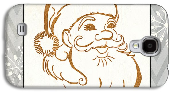 Silver And Gold Santa Galaxy S4 Case by Debbie DeWitt