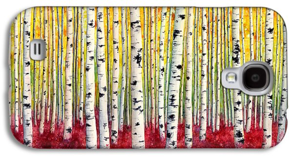 Abstract Nature Galaxy S4 Cases - Silver Birches Galaxy S4 Case by Hailey E Herrera