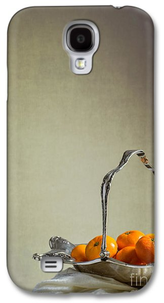 Orange Photographs Galaxy S4 Cases - Silver Fruit Basket Galaxy S4 Case by Amanda And Christopher Elwell