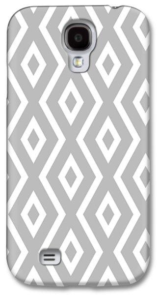 Silver Pattern Galaxy S4 Case by Christina Rollo