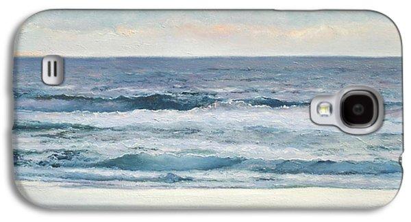 Ocean Art. Beach Decor Galaxy S4 Cases - Silvery Morn Galaxy S4 Case by Jan Matson